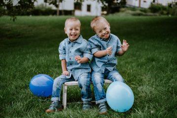 Dvojčata Vojtík a Tomík - ,,kluky miluji a jsem nakonec ráda, že se na DS v těhotenství nepřišlo, protože jinak by tu s námi pravděpodobně nebyli,,.