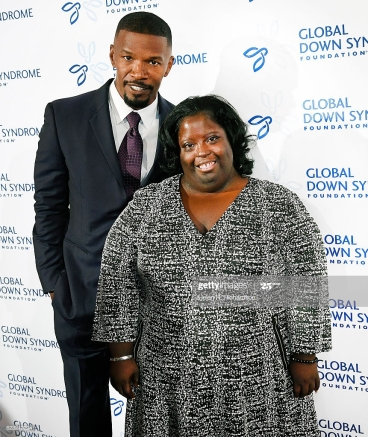 DENVER, COLORADO - NOVEMBER 12: Movie star Jamie Foxx poses on the red carpet with his sister DeOndra Dixon while attending the Global Down Syndrome Foundation's 2016 'Be Beautiful, Be Yourself' fashion show at the Hyatt Regency Hotel on November 12, 2016 in Denver, Colorado. A night of advocacy, and empowerment, the event is the single largest fundraiser benefitting people with Down syndrome in the world, having raised over $12 million to date. (Photo by Helen H. Richardson/The Denver Post via Getty Images)